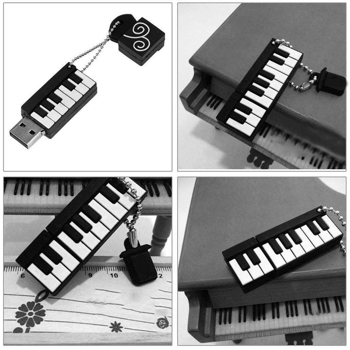 Teclado de Piano de Dibujos Animados USB Stick Instrumentos Musicales Modelo Flash Drive 8 GB 16 GB 32 GB 64 GB Creative Pen Drive con Llavero: Amazon.es: ...
