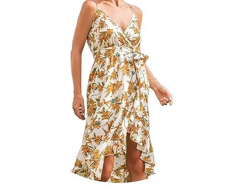 Trendy-Nicer Elegant Boho Long Dress Strap Floral Beach Maxi Vestido Sexy Vintage Bohemian S