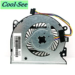Cool-See Replacement CPU Cooling Fan For HP Pavilion 13-A010dx X360 Envy 15-u 15-U011D 15-u010dx 15-u483cl 15-U010DX Series,Compatible Part Number 776213-001 779598-001 776215-001 (4 pin 4 wires)