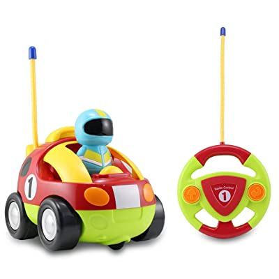 Cartoon R/C Race Car Radio Control Toy for Toddlers by Midea Tech: Toys & Games