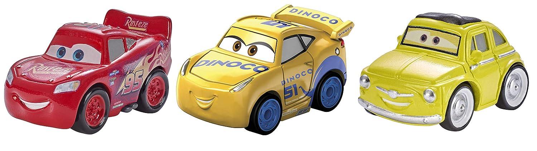 Cruz Storm Exclusive Luigi McQueen Disney Pixar Cars Mini Racers Vehicles 3 Pack