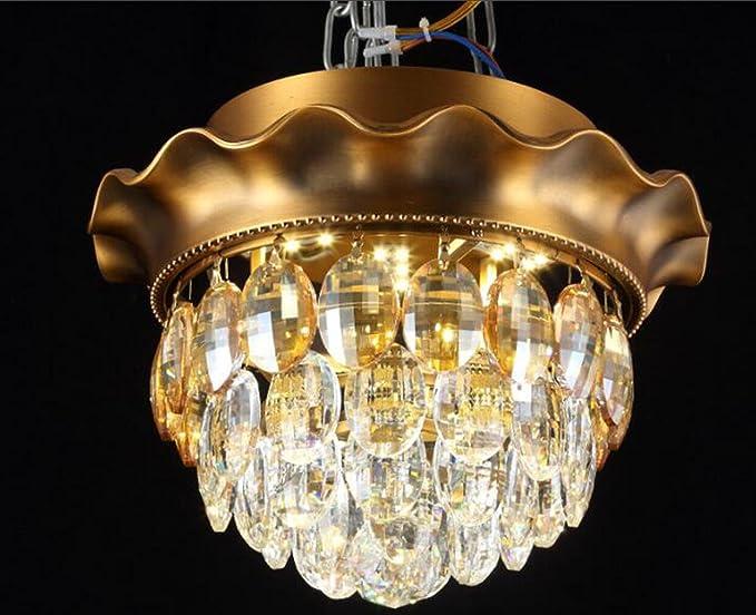 Lampadario Da Ingresso : Nihe lampadari vintage cristallo lampada led rotondo camera da