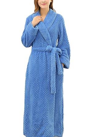 Women s Men s Unisex Fall Winter Flannel Cozy Warm Home Bathrobe Bathrobe  Pajamas Padded Warm 6ba1c733d