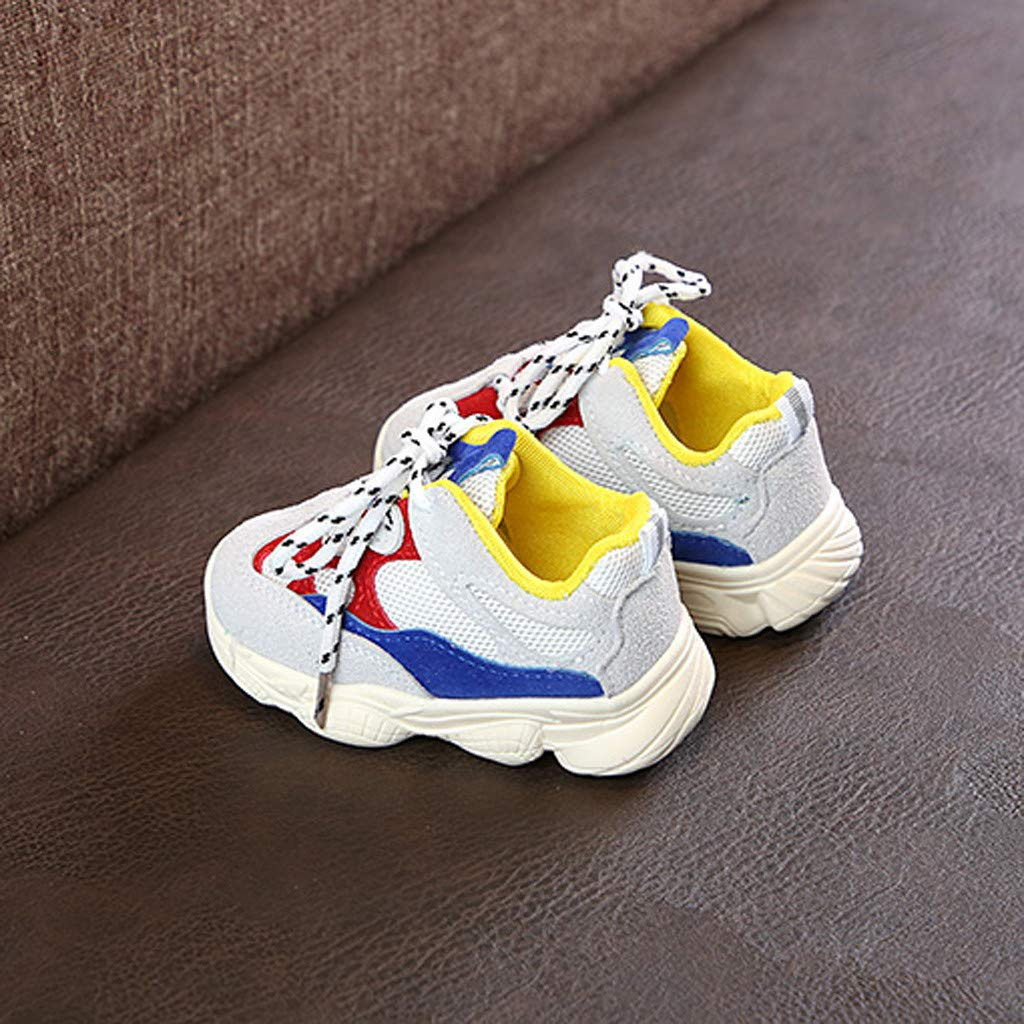 Cloudro Baby Sneakers Boy Girl Mesh Lace-up Casual Running Shoes for 0-18Months