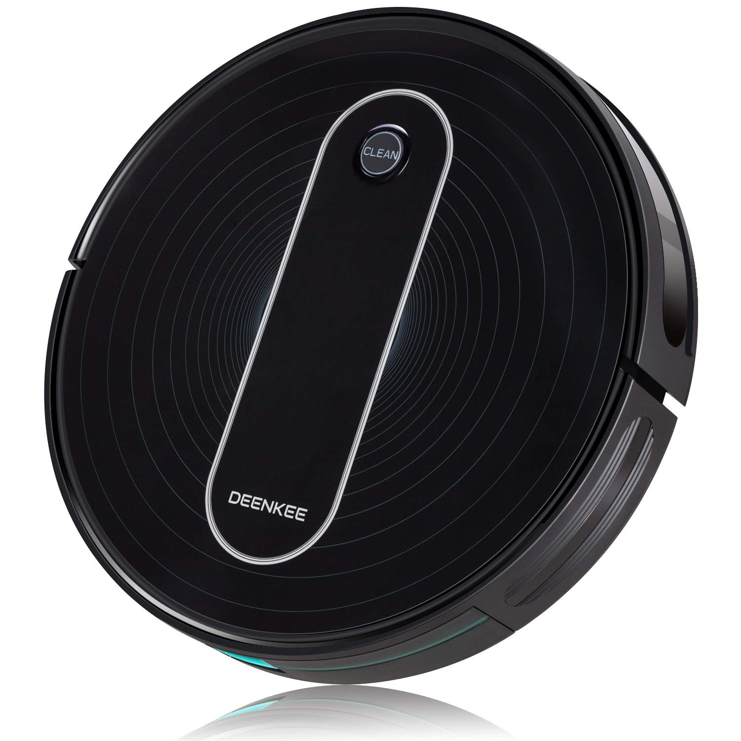 DEENKEE Robot Vacuum,1500Pa High Suction,2.8 inch Super-Thin,6 Cleaning Modes,Quiet,Timing Function,Self-Charging Robotic Vacuum Cleaner for Pet Hair,Hard Floor,Carpet by Deenkee