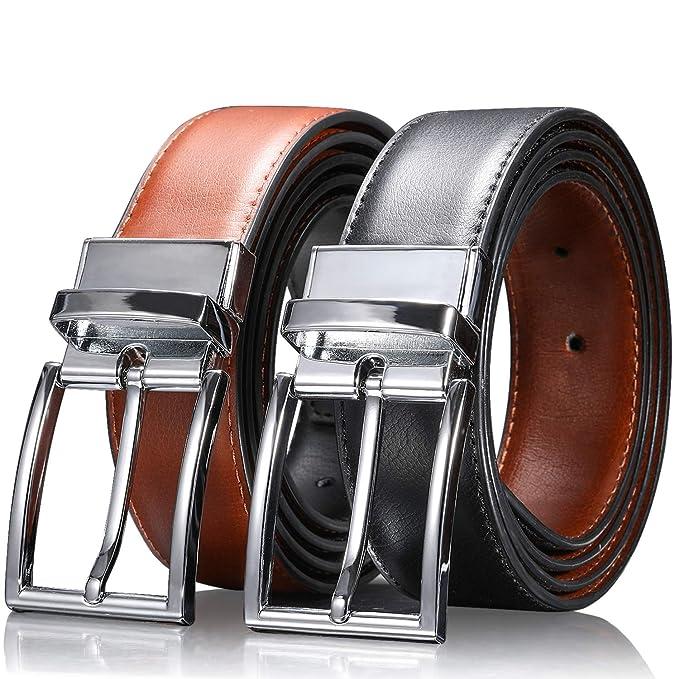 Guess De Hombre Reversible Cinturón Colores NegroMarrón