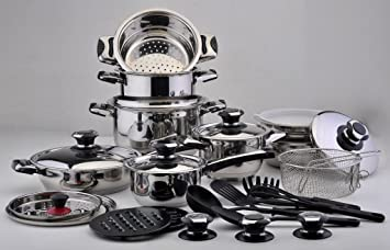 Batería cocina Solingen 12 piezas con tapas en cristal