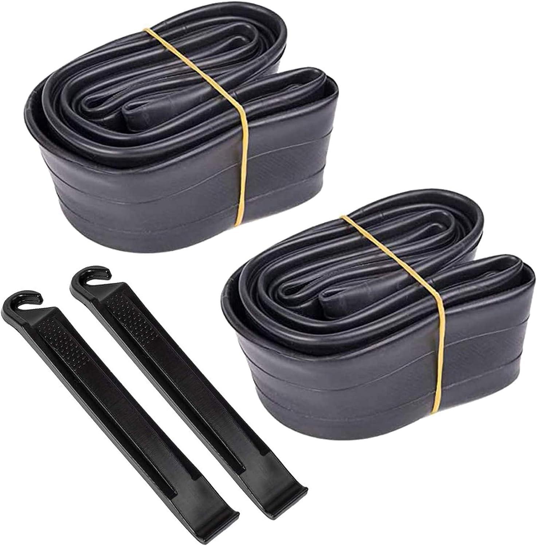 2PCs 22 Inch Bike Inner Tube 22x 1.75-2.125 Bike Rubber Tube Repair Tool Kit BMX
