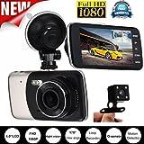 "Car Dash Cam,HARRYSTORE 4.0"" Full HD 1080P Car DVR Dash Camera 170 Degre Vehicle Video Cam Recorder"