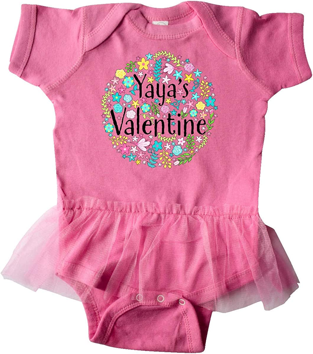 inktastic Yayas Valentine Flower Circle Infant Tutu Bodysuit