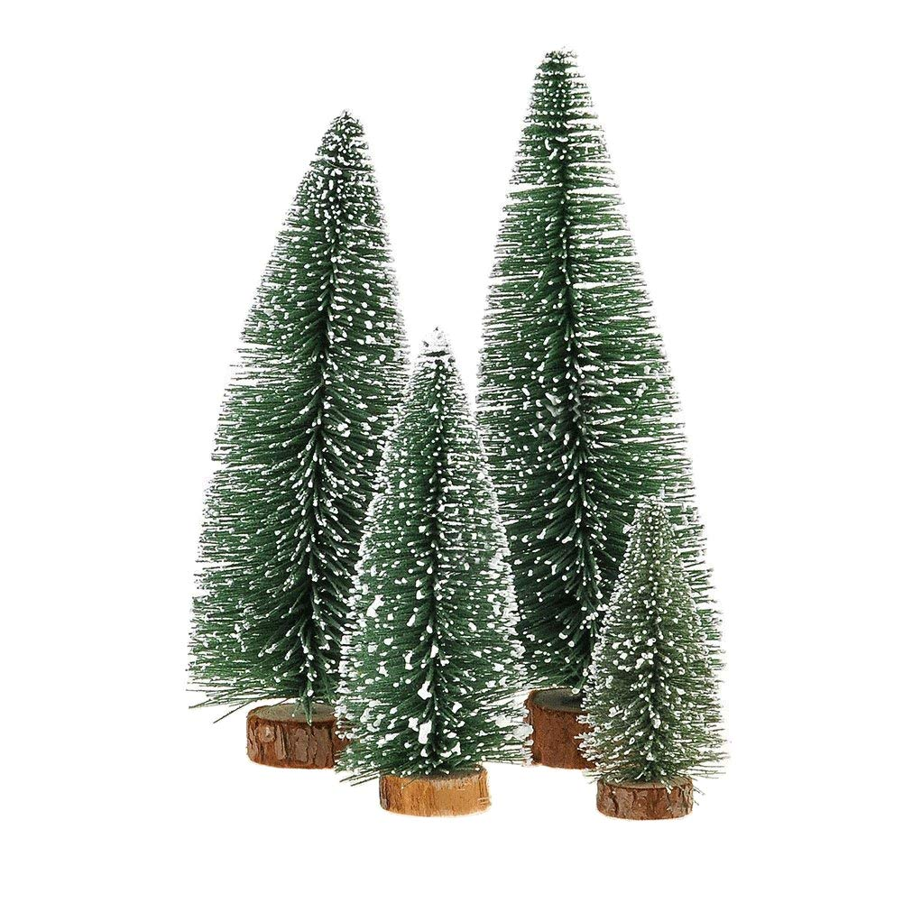 miniature tabletop christmas trees