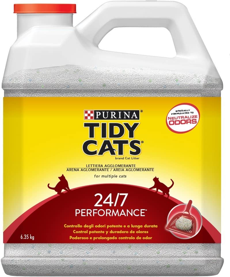 Purina Tidy Cats 24/7 - Arena aglomerante para Gato, perfumada, 6,35 Kg