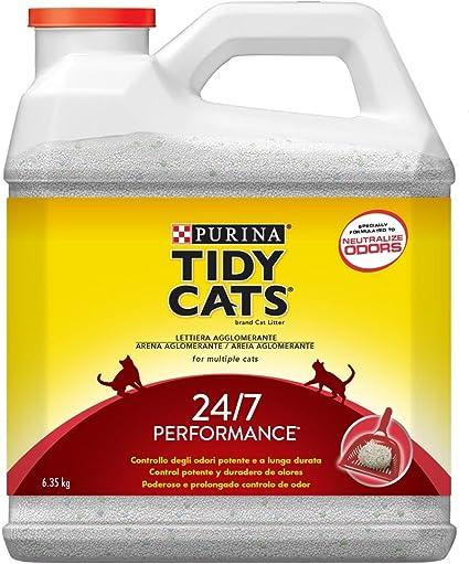 Purina Tidy Cats 24/7 - Arena aglomerante para Gato, perfumada, 6 ...