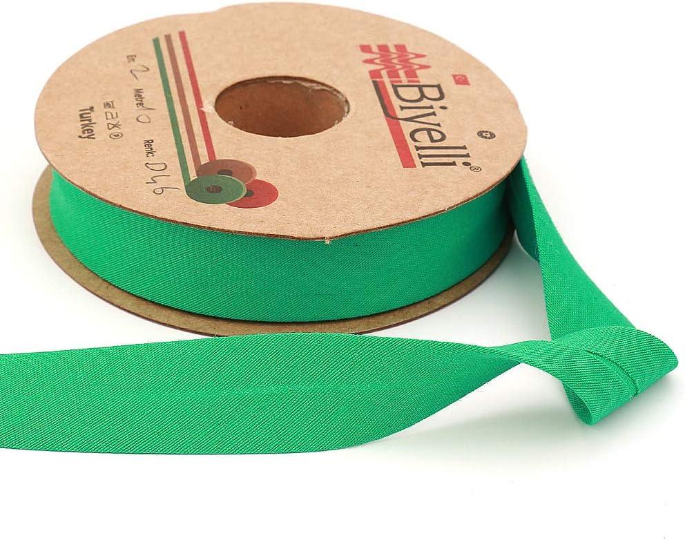 Black Cotton Bias Binding Tape Various Colors DIY Garment Accessories Single Fold 20mm-13//16inch 10meters-10.93yds