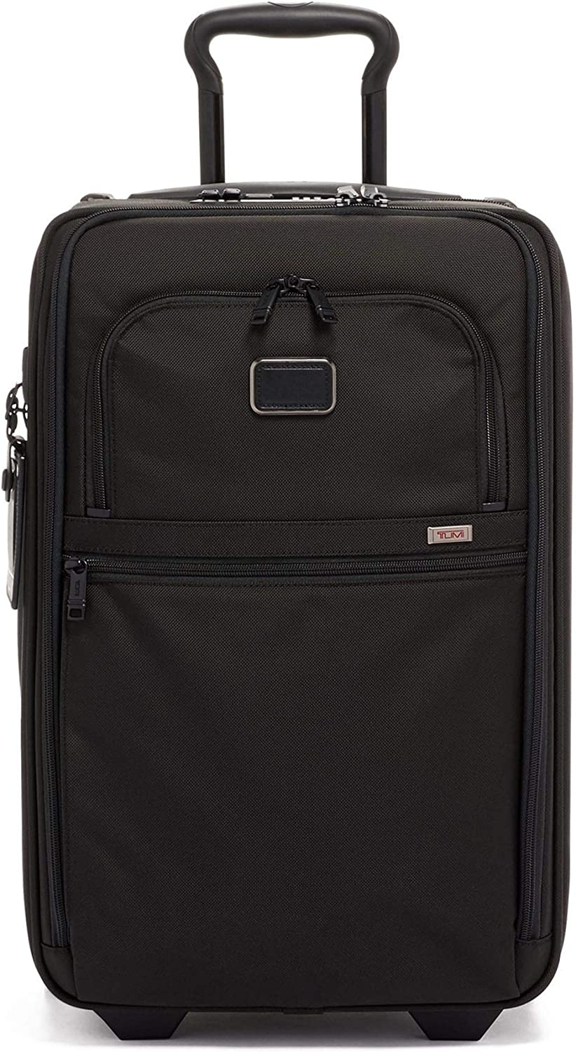 TUMI - Alpha 3 International Expandable 2 Wheeled Carry-on Luggage - 22 Inch Rolling Suitcase for Men and Women - Black