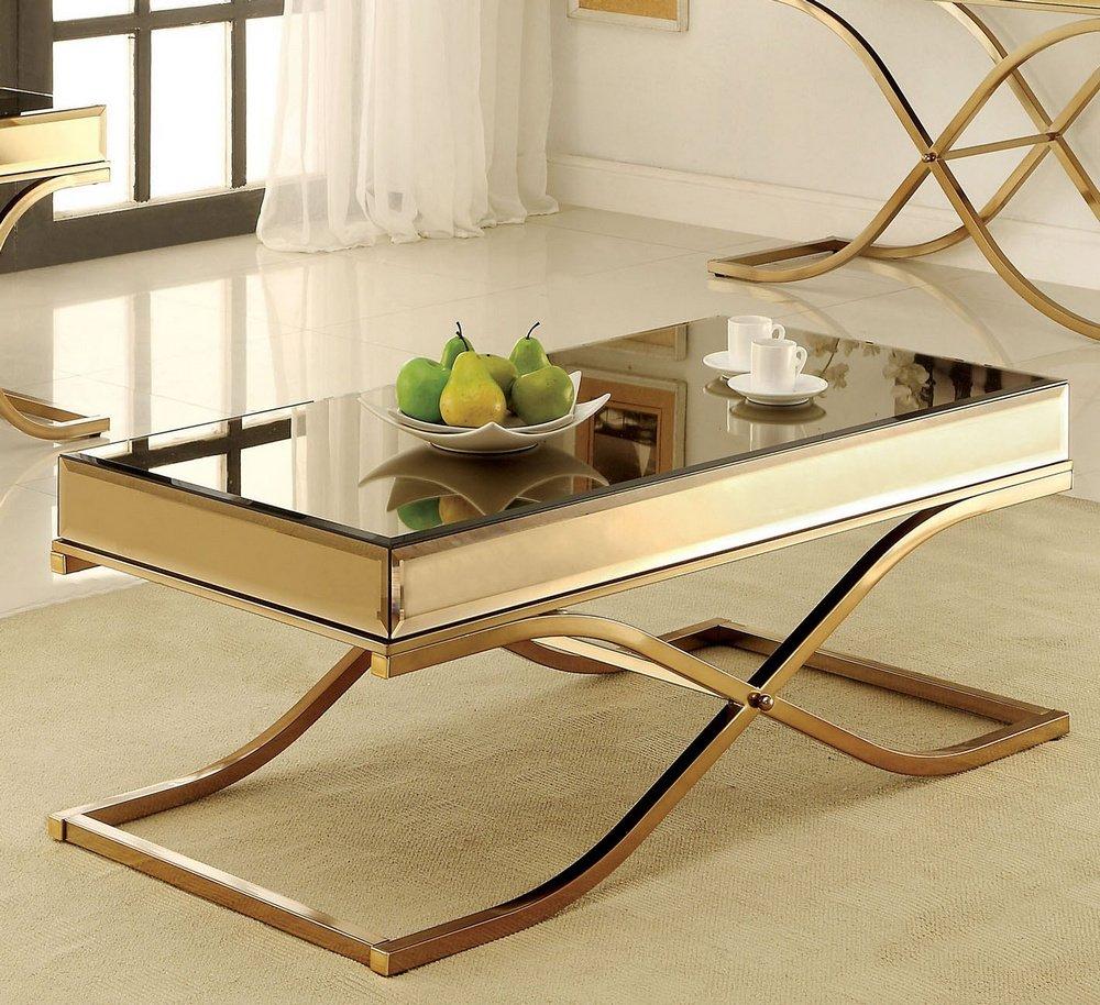 Merveilleux Amazon.com: Furniture Of America CM4230C Sundance Brass Coffee Tables:  Kitchen U0026 Dining