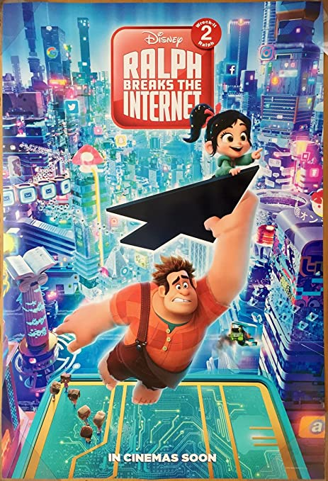 amazon com wreck it ralph 2 ralph breaks the internet movie poster