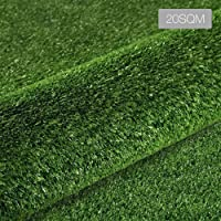 Artificial Grass, Primeturf 2M Width 20SQM Easy Cut Artificial Turf Natural and Realistic Looking Synthetic Turf Plastic Plant Fake Faux Grass Lawn Turf Plant Carpet for Indoor Outdoor Landscape