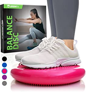 Balance Disc - Stability Wobble Cushion - Lumbar Support For Desk and Office Chair, Lower Back Pain Relief and Support - Kid's Wiggle Seat For Classrooms - Home Gym Workout Equipment - Pump Included