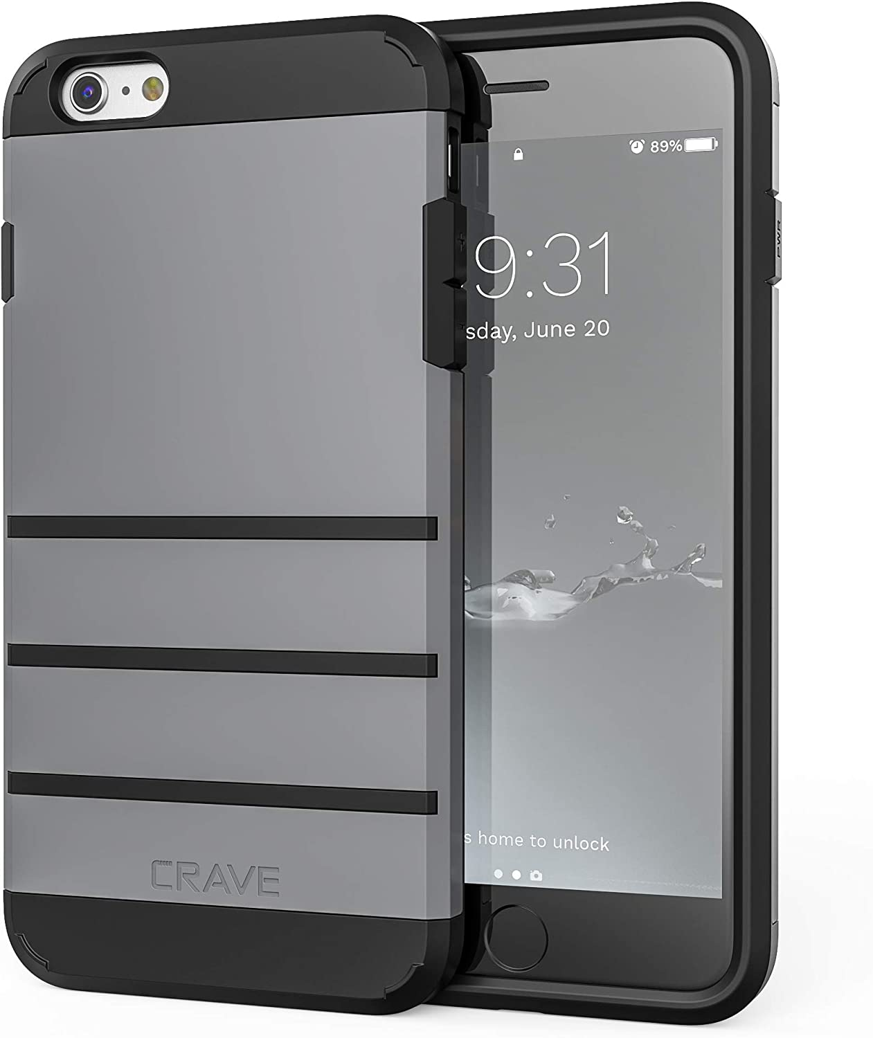 iPhone 6S Plus Case, iPhone 6 Plus Case, Crave Strong Guard Protection Series Case for iPhone 6 / 6s Plus (5.5 Inch) - Slate