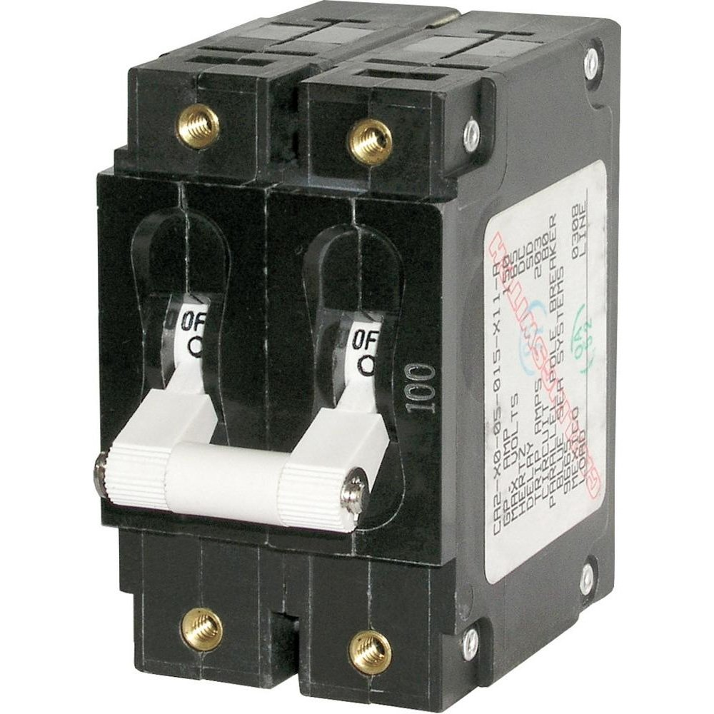 Blue Sea 7258 C-Series Double Pole Circuit Breaker - 100A-Electrical | Circuit B