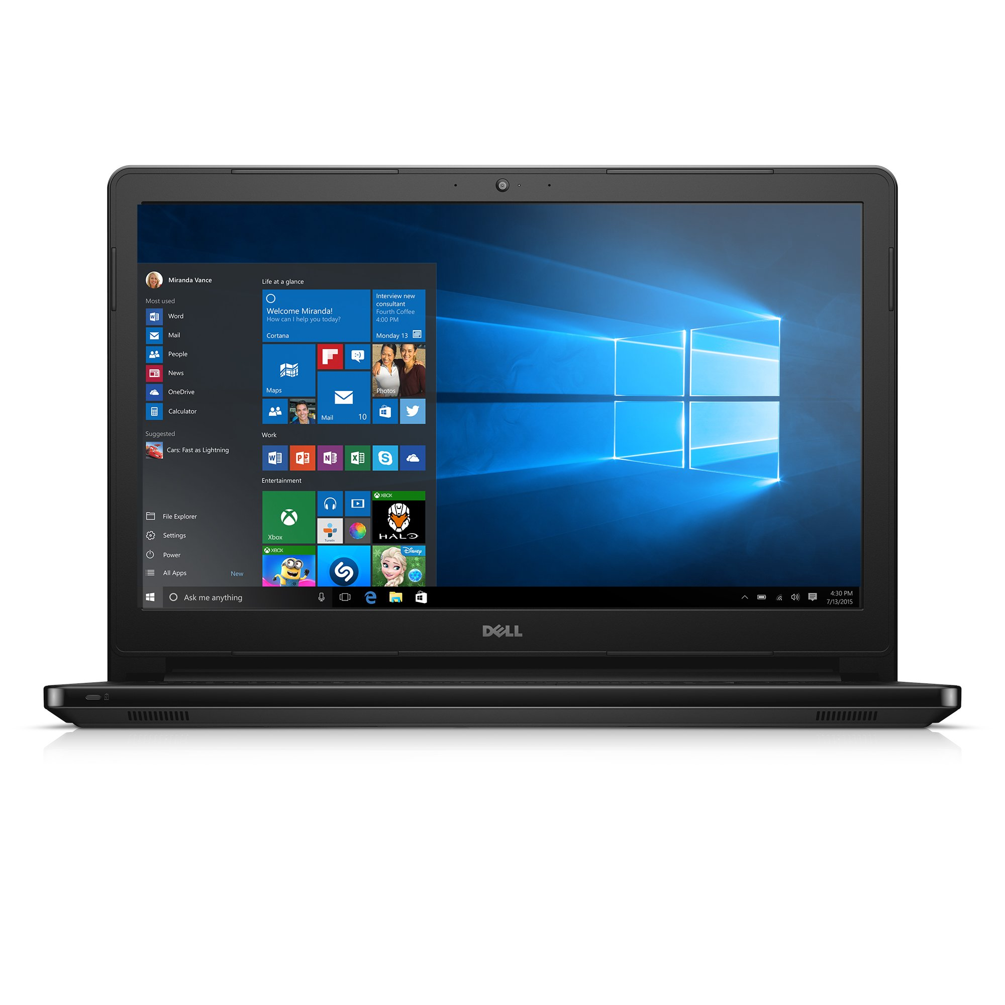 Dell Inspiron i5555-1428BLK 15.6 Inch Touchscreen Laptop (AMD A8, 6 GB RAM, 1 TB HDD, Black Gloss) by Dell