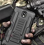 SAKO Black Advanced Armor Hard Hybrid Case Cover Military Stand Holster Combo Case for Samsung Galaxy Note 3 N9000 N3 (Galaxy N3) (galaxy note3)