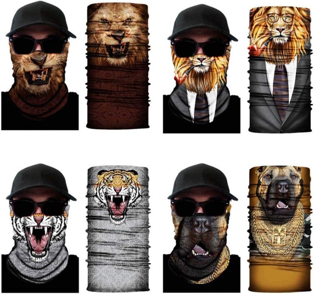 HasiDun El Precioso Animal Tigre Tigre Animal de 3D,dise/ño Facial de Moda Pesca Bicicletas Exteriores protecci/ón contra el Viento Ultravioleta protecci/ón Facial contra el Viento.