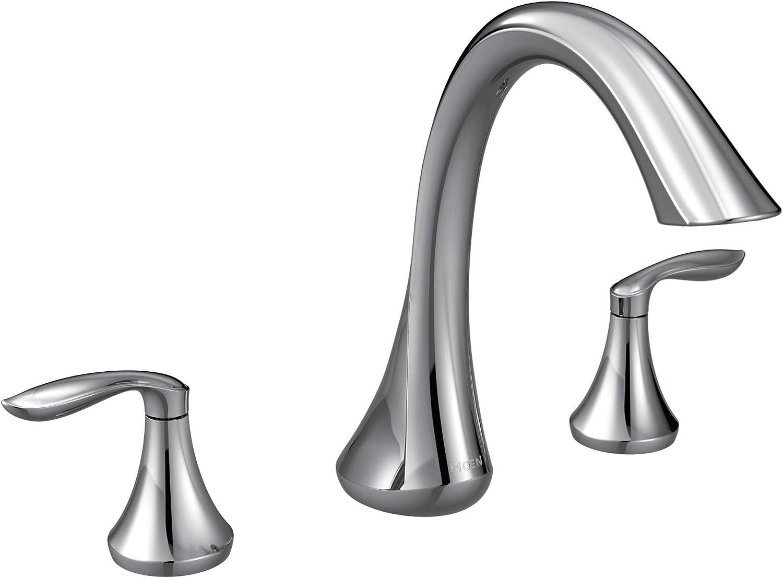Moen T943 Eva Collection Two Handle Deck Mount Roman Tub Faucet Trim Kit Valve Required 1 Count Chrome Bathtub Faucets Amazon Com