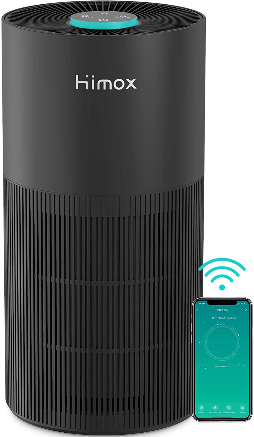 Air Purifier for Home Medical Grade H13 True HEPA Filter Air Cleaner with WiFi for Large Room Bedroom Office Removes 99.97% of Dust Bacteria Viruses Smoke Mold Allergens, 356 sq ft, 100% Ozone Free