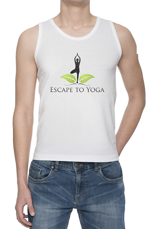 Escape To Yoga De Tirantes Camiseta Para Hombre Blanca Todos ...