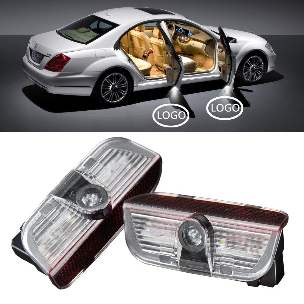 NSLUMO 1 Pair Led Logo Lamp Car Door Welcome Light Projector Car Door Warning Logo Light Newsun