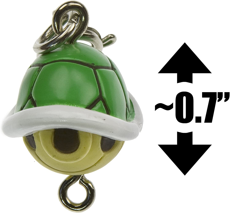 "Green Koopa SHELL ~ 0.7/"" Mini Figure-Super Mario Bros charme Japanese Import"