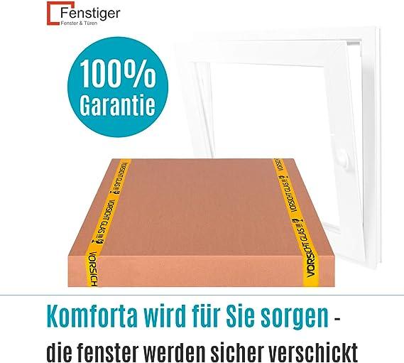 Fenster Kippfenster Kellerfenster wei/ß Kippfl/ügel BxH: 120x80 cm 2 fach Premium Breite: 120 cm x H/öhe: Alle Gr/ö/ßen
