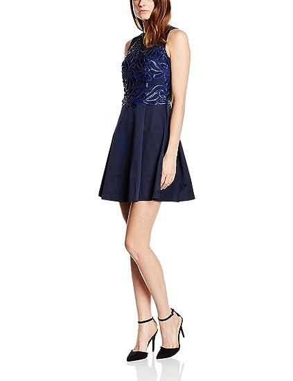 Lipsy Womens Pu Prom Cocktail Sleeveless Dress, Blue (Navy), ...