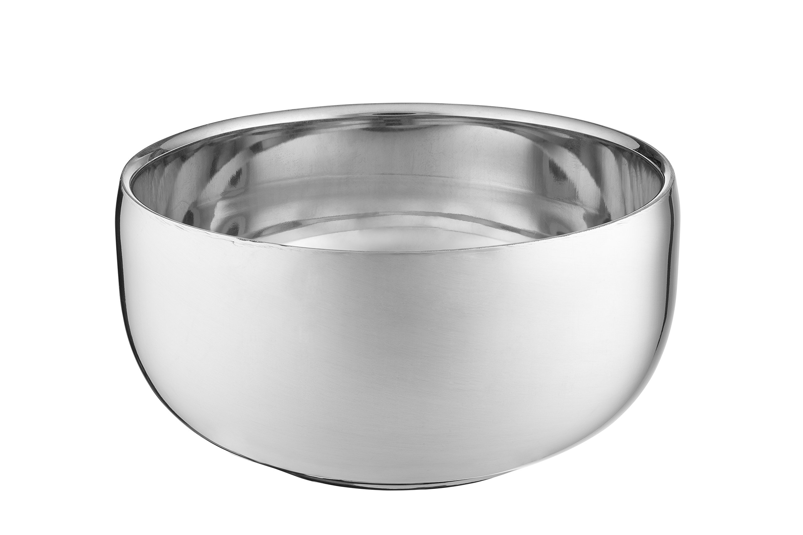 Perfecto Stainless Steel Shaving Bowl | Durable Metal Mug For Shaving Soap & Cream | Perfect Addition To Your Wet Shaving Kit | Double Layer Smooth Shave Unbreakable Mug With Heat Insulation