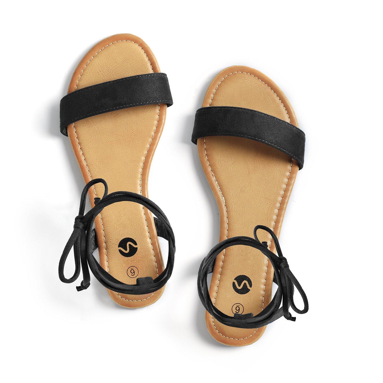6f1b3dece16 Rekayla open toe tie up ankle wrap flat sandals for women flats jpg  1500x1500 Peep toe