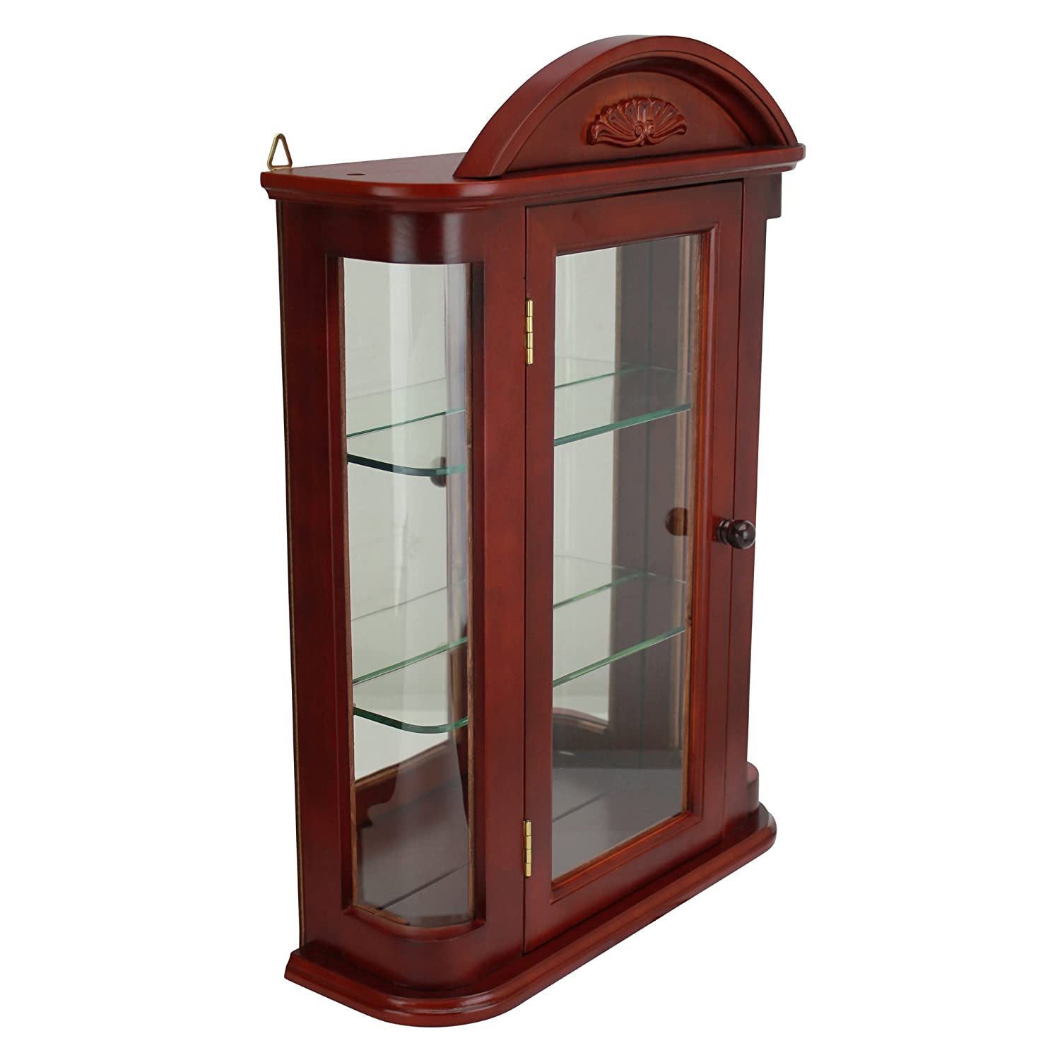 a walmart cabinets cabinet used corner wall shelves furniture sale curved nice china home cheap glass elegant curio idea for