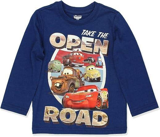 Disney Cars Lightning McQueen Toddler Boys Long Sleeve T-Shirt Tee