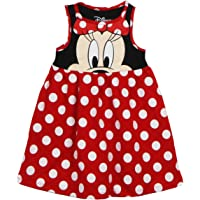 Disney Toddler Girls Minnie Face Dress, Red Polka Dot