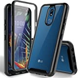 HATOSHI LG K40 Case, LG X4 2019 Case with Built-in Screen Protector, Heavy Duty Protection Crystal Clear Back Shockproof Rubb