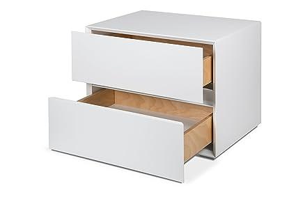 Komo\' comodino comodini design 2 cassetti comodini camera da letto ...