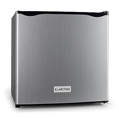 Klarstein Garfield - Minicongelador de 4 Estrellas , Cubitos de Hielo , Acero , 35 litros de Capacidad , 2 Pisos , De -18 a -24 °C , 65 W , Puerta a ...
