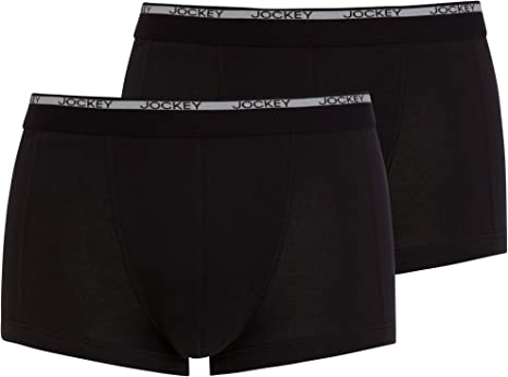 Jockey® - Baúl corto, moderno, clásico, 2 unidades Negro Negro ( XL