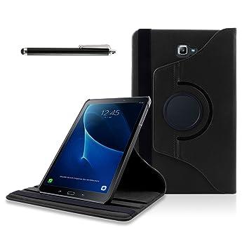 Samsung Galaxy Tab A 10.1 Funda, SAVFY Giratoria 360 grados Stand PU Funda Flip Set (con Auto Reposo / Activación Función)  + Protector de la ...