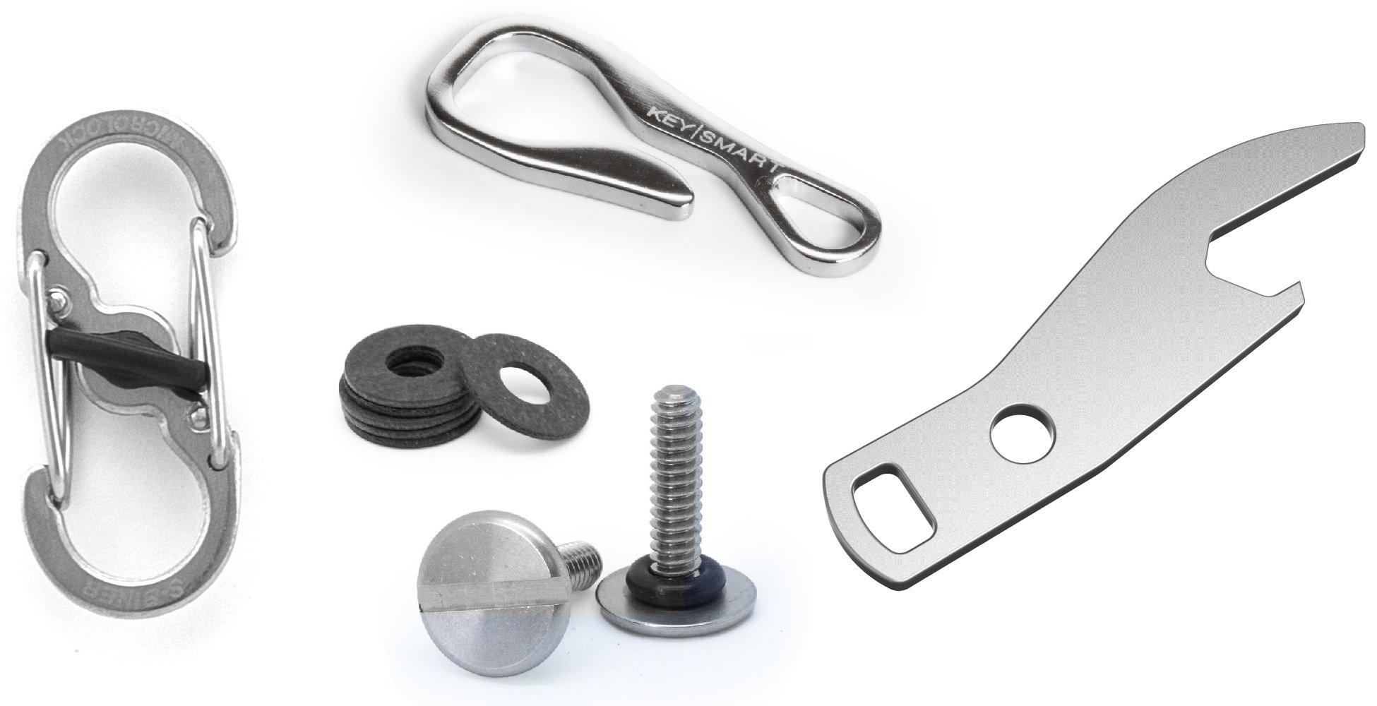 KeySmart Ultimate Accessory Pack: Quick Disconnect, Key Dangler, Bottle Opener, 2-14 Keys Expansion Pack by KeySmart
