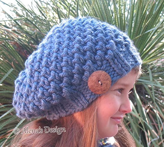 Image Unavailable. Image not available for. Color  Hand Knitted Slouchy Hat  Children s ... dc11e456edc