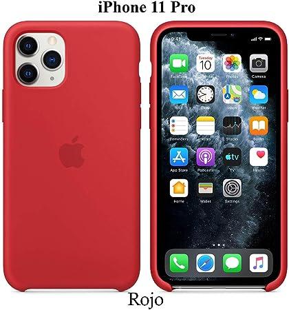Image of Funda Silicona para iPhone 11 Pro Silicone Case, máxima Calidad, Textura Suave, Forro Interno Microfibra (Rojo)