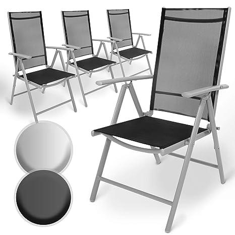 Sedie Da Giardino Reclinabili.Set Di Alluminio Sedie Da Giardino Pieghevole Con Braccioli Seduta Confortevole E Reclinabile Sedia Da Esterno Ideali Per Balcone Patio O