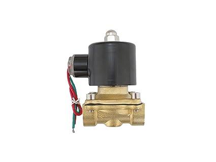 "AC 220 V G3//8/"" Latón Agua Interruptor de solenoide válvula eléctrica normalmente cerrado N//C Aire"